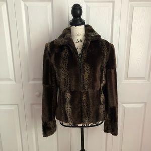 SOLD Giancarlo Ferrari Vegan Fur Jacket Size 12